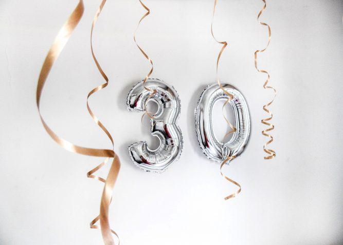 Balony i dekoracje na 30 urodziny